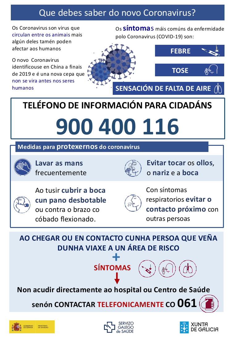 Información sobre o coronavirus