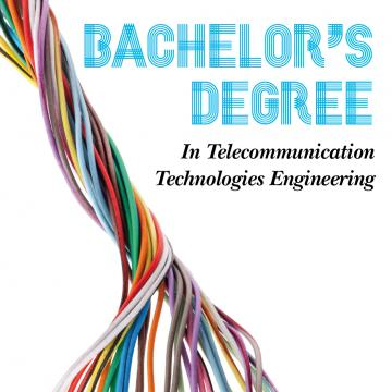 Cartel promocional do Bachelor's Degree (Telecommunication Tech)