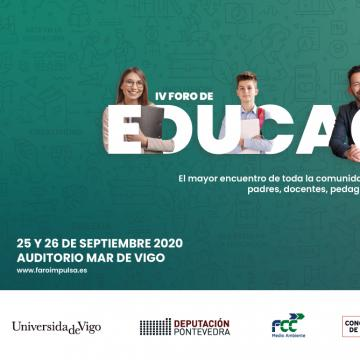 Cartel do IV Foro de Educación Faro Impulsa